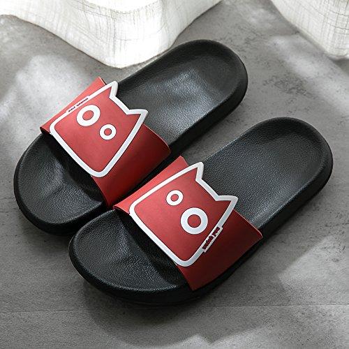 coppia soggiorno rosso slittamento estate 42 ciabatte morbido anti di uomini fondo freddo bagno plastica bagno fankou 41 pantofole adorabile da female ciabatte d4qgwd16