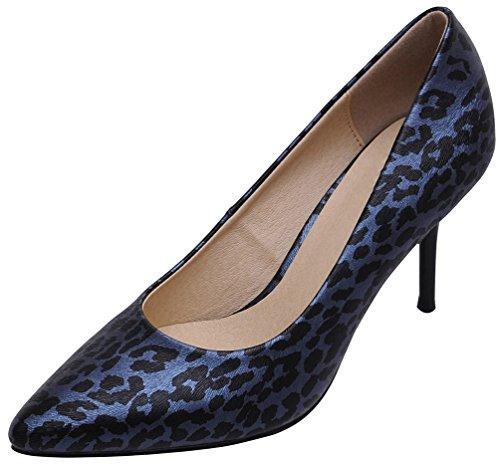 1072 Salabobo Con Poliuretano A Da Blu Cono Ol Comfort Punta Spillo Lavoro In Sposa Tacco Scarpe Ladies rrSfnd