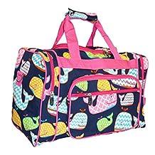 NGIL Travel Duffel Bag, Orca Whale Pink (23-inch)