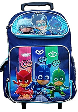 "PJ Masks 16"" Large Rolling Backpack Rolling School Backpack Bag NEW"