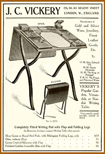 1906-ad-for-jc-vickery-portable-folding-writing-desk-original-paper-ephemera-authentic-vintage-print