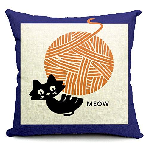 decorbox Decorative Cotton Linen Square Throw Pillow Case Cushion Cover Throw Pillow Shell Pillowcase Bicycle Bike 18