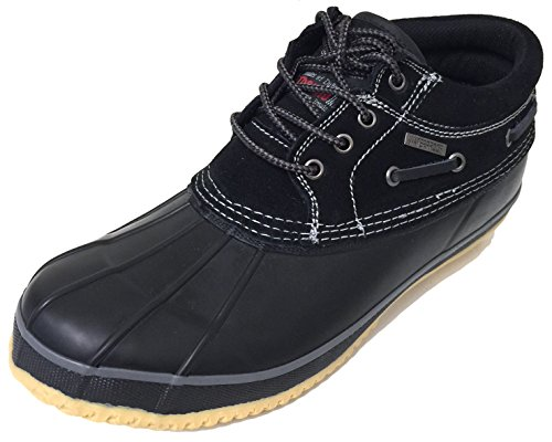 G4U-Climate X V30SB Men's Short Duck Boots Suede Thermolite Insulated Waterproof Snow Rain Boat Shoes (9 D(M) US, Black/Black) by G4U-Climate X