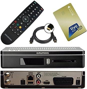 Receptor satélite HD GRUNDIG DSR + 8200 tivu SAT Smart Card oro HD (HDMI, CI +, 2 puertos USB, PVR, Scart): Amazon.es: Electrónica