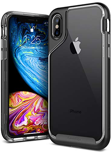 Caseology for iPhone XS Case [Skyfall Series] - Clear Slim Fit Corner Cushion Enhanced Drop Protection Transparent Design Case for iPhone XS 5.8 (2018) & iPhone X (2017) - Soft (Series Clear Corner)