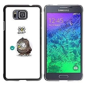 Caucho caso de Shell duro de la cubierta de accesorios de protección BY RAYDREAMMM - Samsung ALPHA G850 - Búho Tiny