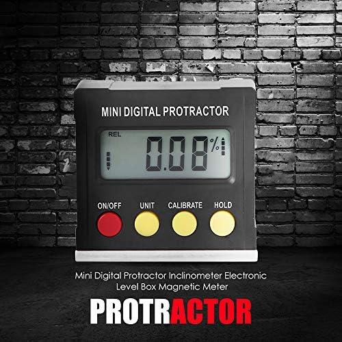 Mini Digital Protractor Inclinometer Electronic Level Box Magnetic Meter