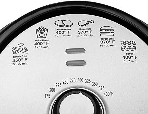 Friteuse à air sans huile de 5,2 L, friteuse intelligente multifonctionnelle, fonction de rôtisserie saine, cuisson sans huile, système de circulation d'air rapide