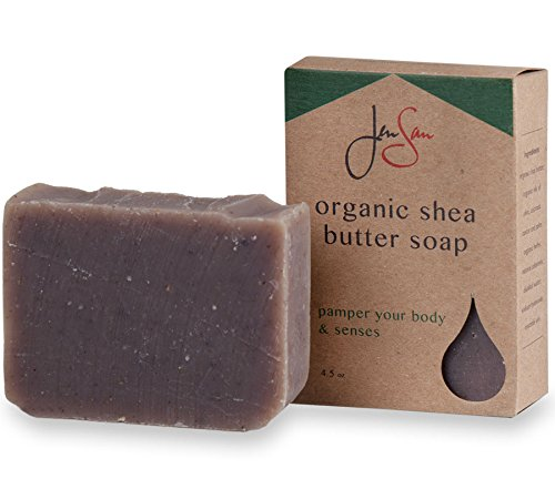 JenSan Lavender Oatmeal Exfoliating and Moisturizing Natural Organic Shea Butter Soap Bar – Handmade