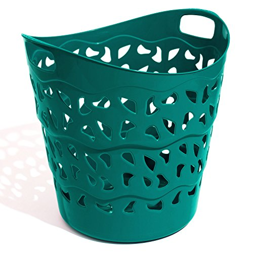 30 L Flexi Korb Tasche Wäschekorb blau Gartenkorb Aufbewahrungskorb Korbtasche