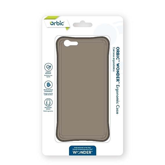 outlet store 4e355 addf6 Amazon.com: Orbic Wonder Ergonomic Cell Phone Case - Black: Cell ...