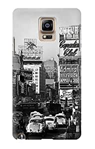 S0182 Old New York Vintage Case Cover For Samsung Galaxy Note 4