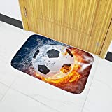 BIBITIME Door Mats World Cup Sport Theme Bedroom Soccer Football Design Home Doormats Living Room Area Rug Carpet TV Sofa Floor Mat,50x80cm(19.68''x31.49'')