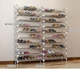 Stainless steel shoe rack [multilayer],stainless steel,storage iron shoe rack double row shoe rack multifunctional shoe cabinet-X