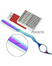 Hair Thinning Razor, Feather Styling, Hair Styling Razor, 10 Spare Blades Hair Razors,Feather Cutting Razors,Hair texturing,Hair Layering,Hair Thinner,Stainless Steel With Free Comb
