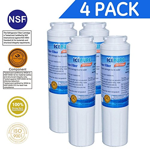 Price comparison product image Icepure RWF0900A 4PACK Refrigerator Water Filter Compatible with Maytag UKF8001 , WHIRLPOOL 4396395 , EveryDrop EDR4RXD1, Filter 4