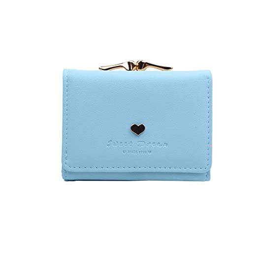 9e32699a318d Image Unavailable. Image not available for. Color  Designer Heart Cute  Small Wallet Female Vintage Lady Mini Clutch Coin Purse Card Holder ...