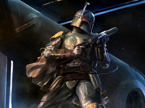 Boba Fett Amazing Painting Artwork Star Wars 32x24 Print Poster