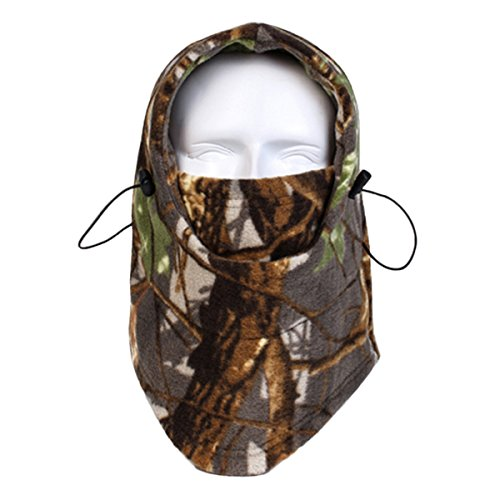 Panegy Winter Warm Skiing Cycling Hunting Windproof Fleece Camouflage Balaclava Neck Hood Full Face Mask - RZ 015