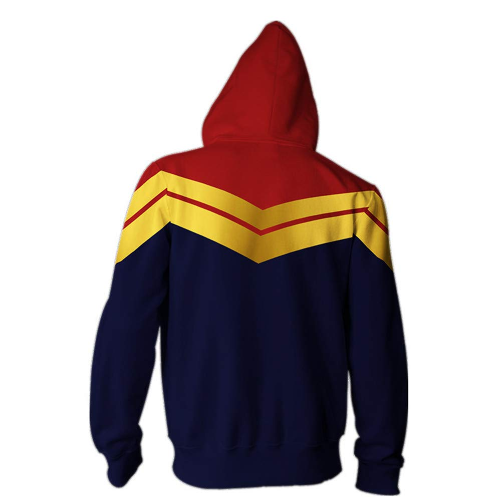 Adult Avenger\'s Endgame Quantum Realm Hoodie Jacket Costume Cosplay Costume Zipper Pullover Shirts Sweatshirt. (2:Zipper Closure, XX-Large)