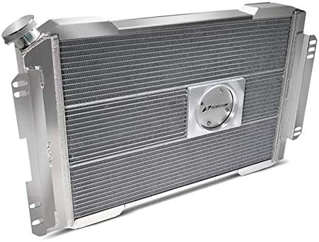 Single Pass Natural GM F-Body 1967-69 Slim Direct Fit Series Driver Inlet PFM 69600.2 Radiator Each Passenger Side Outlet 28-7//64 in W x 18-1//2 in H x 4 in D Automatic Transmission