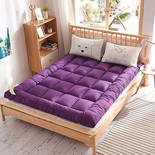 Nobuddy Japonés Suelo Futón Colchón Topper de Tatami,Plegable Soft Espesar Funda de Moquetas Colchón Sleeping Pad…