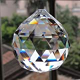 hanging crystal decorations - Petrichor Clear Crystal Hanging Ball Sun-catcher for Good luck & Prosperity - Home Decoration/Gifting