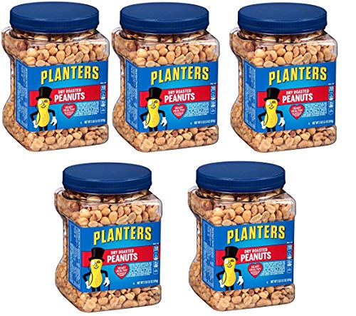 Planters Dry Roasted Peanuts, 34.5 Ounce Container, 15 Tubs by Planters (Image #1)