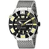 Technomarine Men's TM-513006 Black Reef Analog Display Swiss Automatic Silver Watch