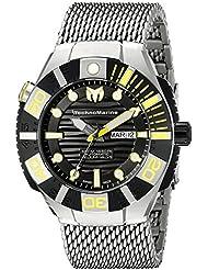 Technomarine Mens TM-513006 Black Reef Analog Display Swiss Automatic Silver Watch