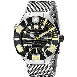 Technomarine Men's TM-513006 Black Reef Analog Display Swiss Automatic Silver Watch