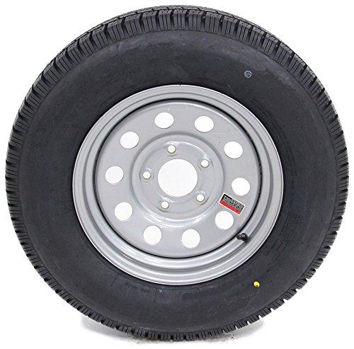 eCustomRim Trailer Tire & Rim 60210 ST185/80R13C 1480# 50PSI 13X4.5 5-4.5 Modular Silver by eCustomRim