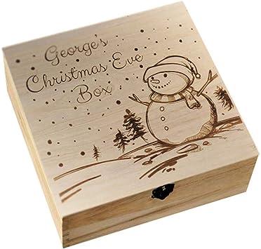 Caja de madera para regalo de Navidad de Hippicity, tallada con láser, caja de madera para regalos de Nochevieja: Amazon.es: Bricolaje y herramientas