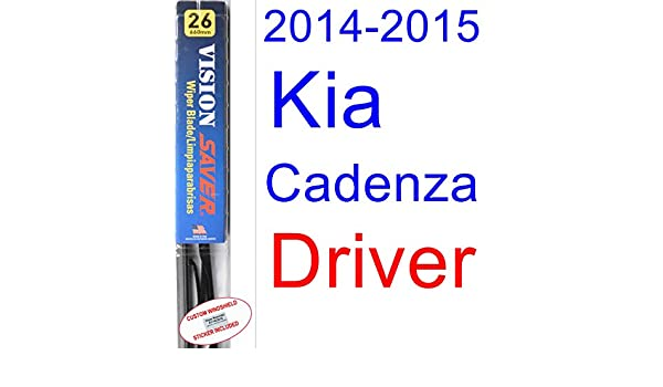 Amazon.com: 2014-2015 Kia Cadenza Wiper Blade (Driver) (Saver Automotive Products-Vision Saver): Automotive
