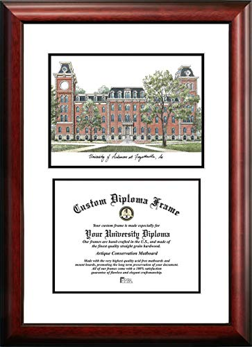 (Campus Images AR999V University of Arkansas Scholar Diploma Frame, 8.5