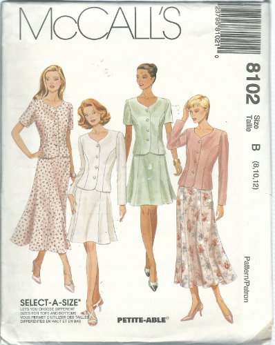 McCall's 8102B Sewing Pattern Misses Two-Piece Dress Size 8-12