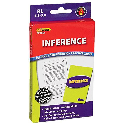 Edupress Reading Comprehension Practice Cards, Inference, Blue Level (EP63064)
