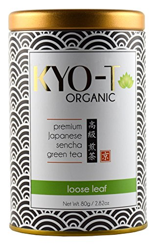 KYO-T Organic Premium Japanese Sencha green tea Loose leaf Kyo Green Drink
