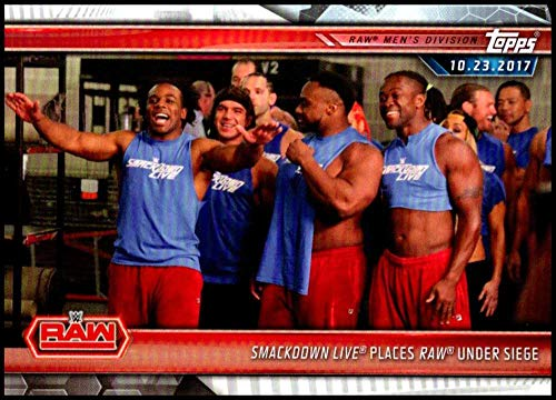 2019 Topps Road to WrestleMania Wrestling #8 SmackDown Live Places Raw Under Siege Official WWE Trading Card (Best Of Raw And Smackdown 2019)