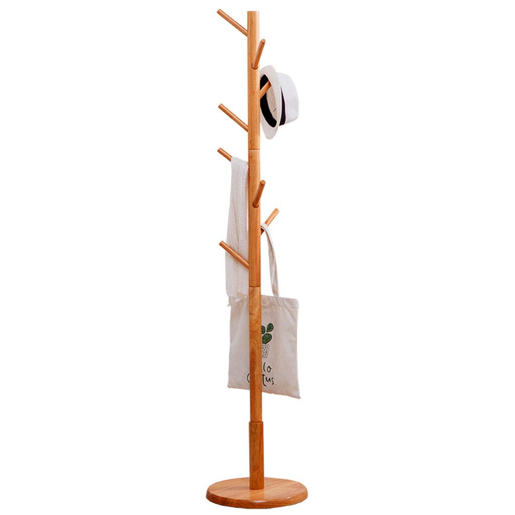 Wood color W36xH170cm ZXW Coat Rack- Modern Minimalist Home Solid Wood Coat Rack, Living Room Bedroom Simple Hanger Coat Rack (color   Wood color, Size   W36xH170cm)