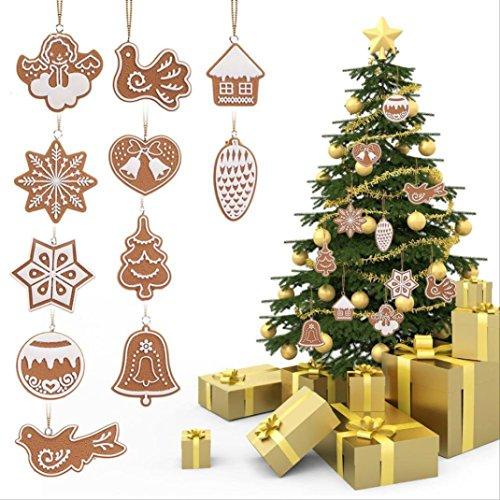 Price 12 Pull Bows (Sinwo 11 ×Xmas Drop Pendant Ornaments Party Christmas Tree Hanging Decoration Chirstmas Decor (Color Random))