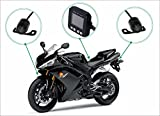 Sykik Rider CR1, Dual Camera System for Motorcycles and Scooters. Front and Back Camera with Motion Activated Start and Stop. with 2' Monitor