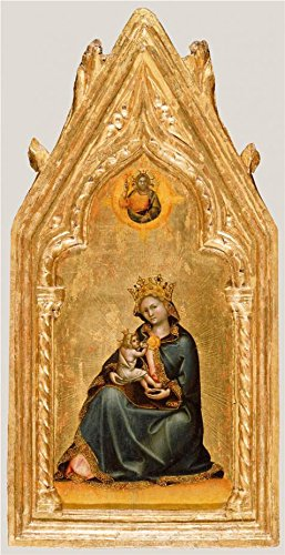 Oil Painting 'Madonna Of Humility, About 1345 - 1350 By Guariento Di Arpo' Printing On Perfect Effect Canvas , 12x23 Inch / 30x59 Cm ,the Best Kitchen Gallery Art And Home Artwork And Gifts Is This Beautiful Art Decorative Canvas Prints (Mascara Blanca Halloween)