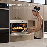 """Single Wall Oven, GASLAND Chef ES609DS 24"""" Built-in Electric Ovens, 240V 2800W 2.3Cu.f 9 Cooking Functions Convection Wall Oven, Digital Display, Mechanical Knob Control, Stainless Steel Finish"""