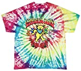 Seven Times Six Grateful Dead Shirt Men's Dancing Bears and Roses Tie-Dye Adult Officially Licensed Graphic T-Shirt (X-Large)