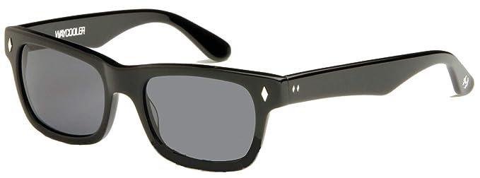 65409049f Amazon.com: Tres Noir Optics Waycooler Sunglasses (Shiny Black ...