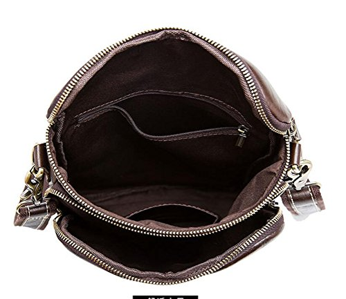 Satchel Men's Travel Casual Body Bag Messenger Canvas Laptop Shoulder Bags Vintage Military Leather School Cross FqWwZfqg7x