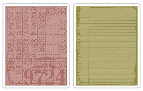 Sizzix Texture Fades Embossing Folders 2PK - Collage & Notebook Set by Tim Holtz by Sizzix