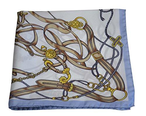 Brigitte foulard de soie avec bord bleu ciel by setamoda