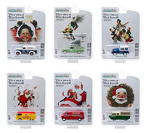 Norman Rockwell Delivery Vehicles Series 1 Set of 6 Cars 1/64 Diecast Models by Greenlight 37150 B07K92LN9X